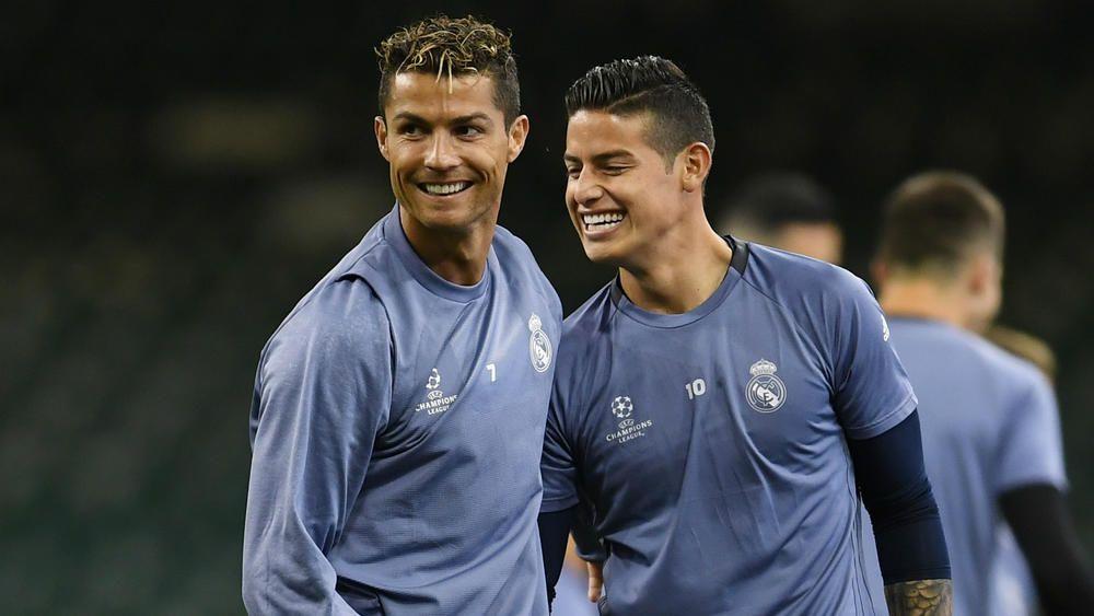 Cristiano Ronaldo Mocks Real Madrid Team Mate James Rodriguez S Ugly New Haircut Fourfourtwo