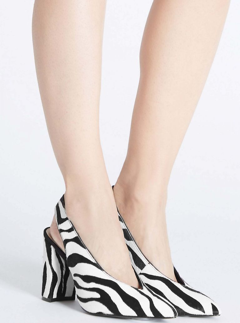 Marks and spencer animal print court shoe