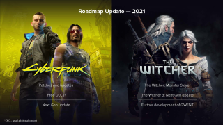 Cyberpunk 2077 and Witcher roadmap