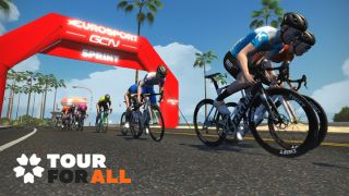 Freddy Ovett claims stage 1 of Zwift Tour for All