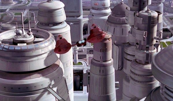 Star Wars The Empire Strikes Back Cloud Car flies through Bespin