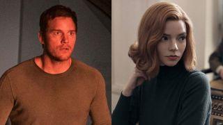 Chris Pratt in Passengers and Anya Taylor-Joy in The Queen's Gambit