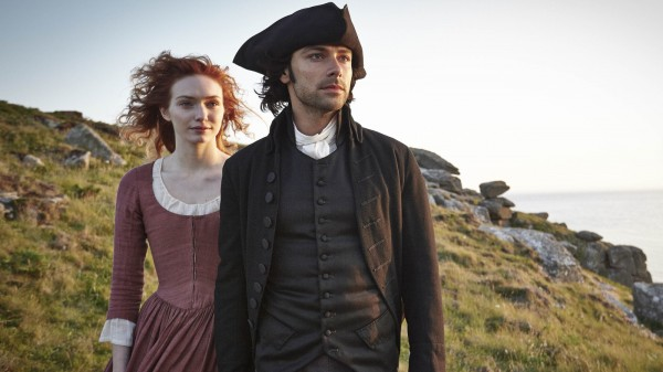 Aidan Turner and Eleanor Tomlinson in Poldark