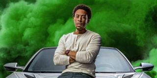 Ludacris surrounded by green smoke in F9 poster