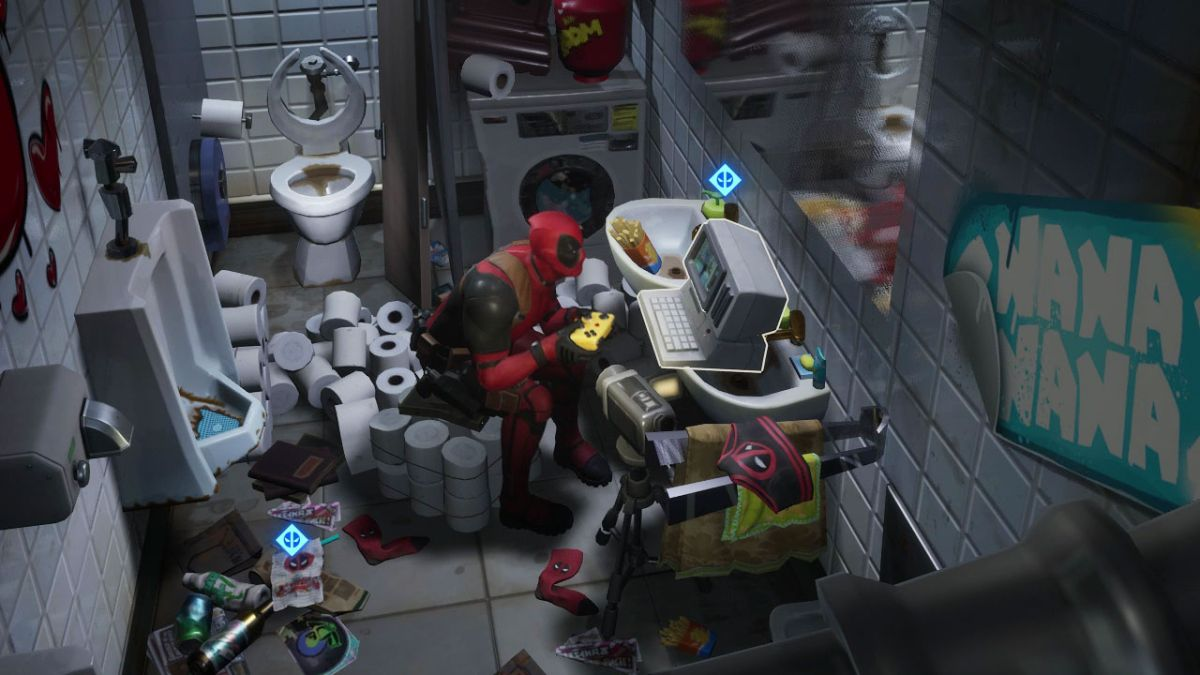 Fortnite Deadpool Challenges Where To Find Deadpool S Pool Floaty And Dance At Deadpool S Yacht Party Gamesradar
