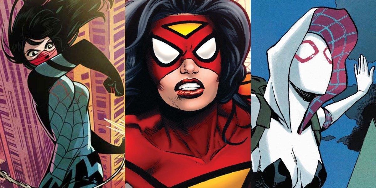 Cindy Moon, Jessica Drew and Spider-Gwen Spider-Woman