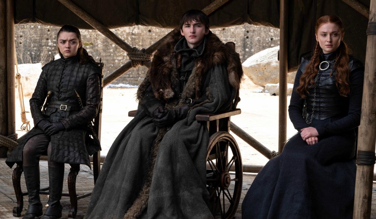 Game of Thrones Maisie Williams Arya Stark Isaac Hempstead-Wright Bran Stark Sophie Turner Sansa Sta
