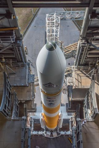 Looking Down on Delta IV Rocket