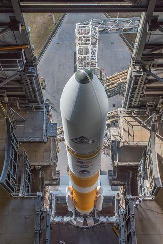Looking Down on Delta IV Rocket