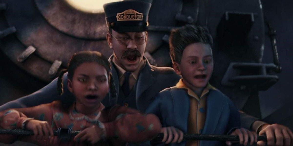 Nona Gaye, Tom Hanks and Josh Hutcherson in The Polar Express