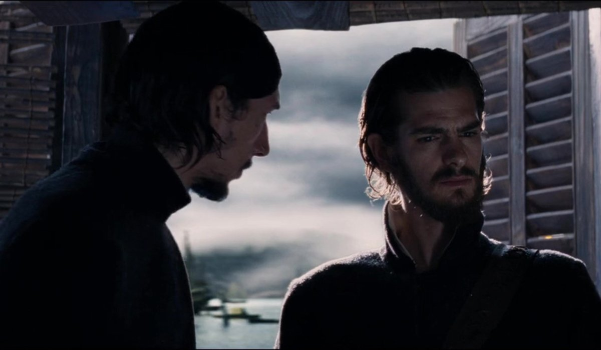 Silence Adam Driver puzzles Andrew Garfield in conversation