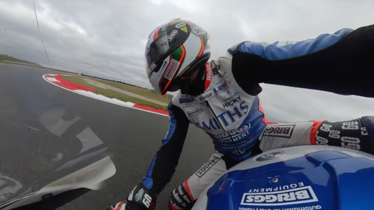 An Insta360 camera was strapped to a British Superbike: here's what happened!