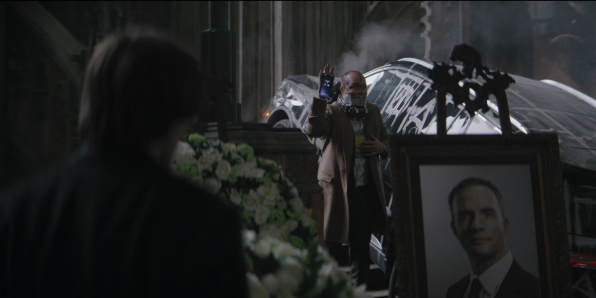 A funeral and trap of some sort in The Batman trailer