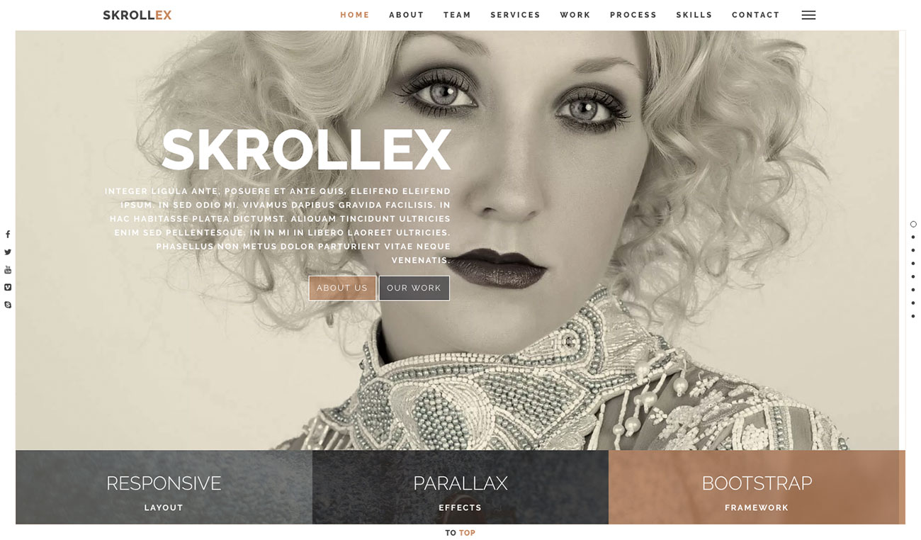 The 10 best HTML5 template designs: Skrollex