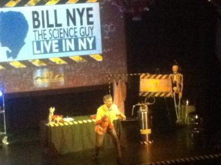 Bill Nye gave a lecture this weekend in New York City about the beginnings of his well-known TV show, evolution and the future of space exploration.