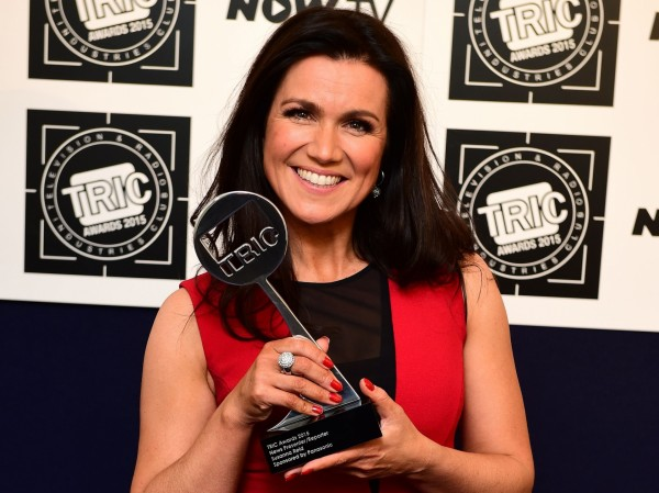 Susanna Reid with her News Presenter Reporter Award at the TRIC Awards in March (Ian West/PA)