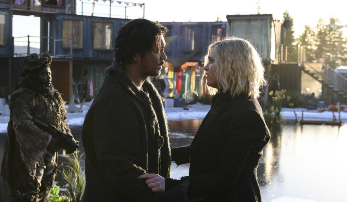 the 100 season 6 bellamy and clarke the cw