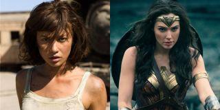 Quantum of Solace Olga Kurylenko Wonder Woman Gal Gadot side by side