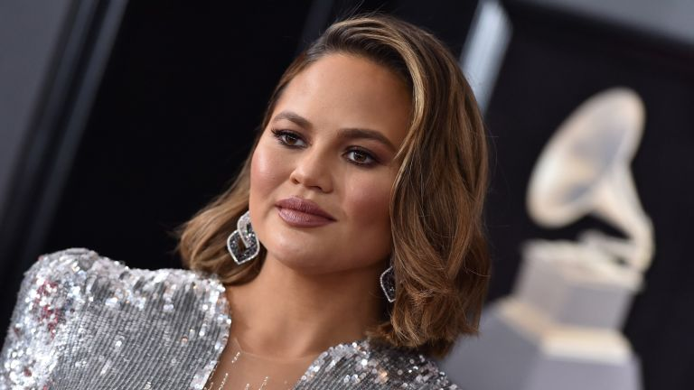 NEW YORK, NY - JANUARY 28: Model Chrissy Teigen attends the 60th Annual GRAMMY Awards at Madison Square Garden on January 28, 2018 in New York City.