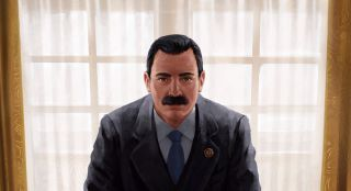 The president and his intimidating moustache