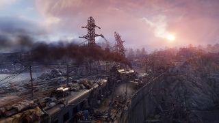 Metro Exodus Enhanced Edition train in post-apocalyptic scene
