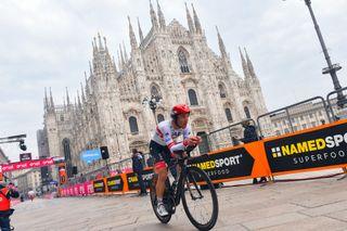 Giro d'Italia 2020 - 103th Edition - 21th stage Cernusco sul Naviglio - Milano 15,7km - 25/10/2020 -Valerio Conti (ITA - UAE - Team Emirates) - photo Dario Belingheri/BettiniPhoto©2020