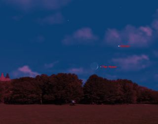 Venus and Moon Sky Map for July 10, 2013