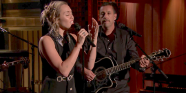 Watch Miley Cyrus And Adam Sandler Perform To Pay Tribute To Las Vegas Shooting Victims
