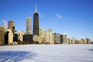 frozen lake, snow, ice