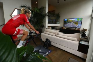 Virtual riding with Zwift