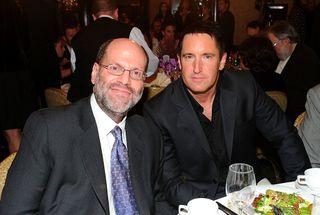 Producer Scott Rudin and Trent Reznor.