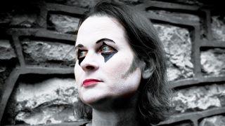Discipline frontman Matthew Parmenter in mime make up