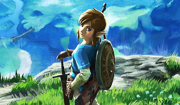Link on a hill in Breath of the Wild