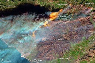 Sentinel-2 View of Southern California Wildfires