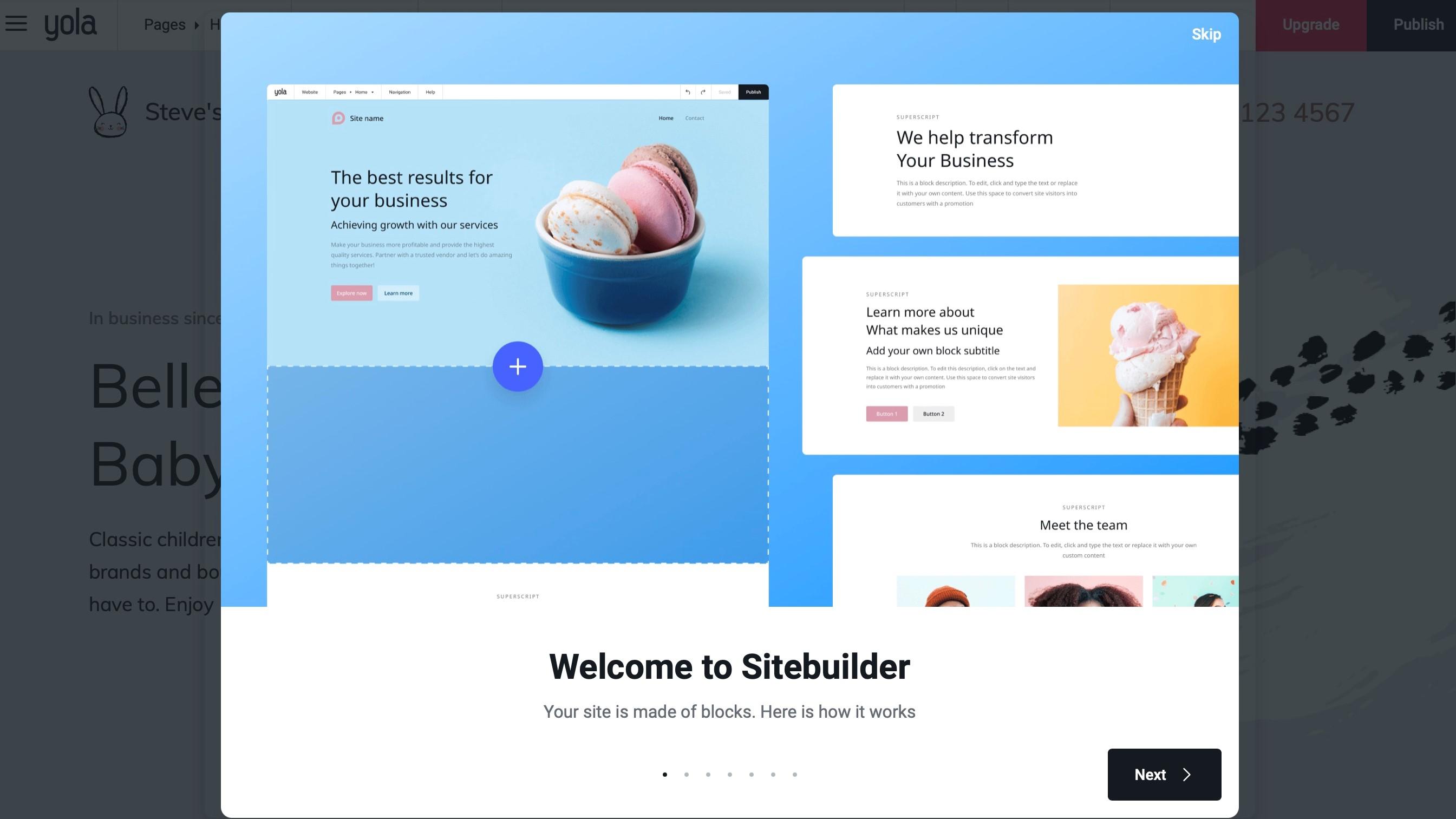 Site Builder Intro