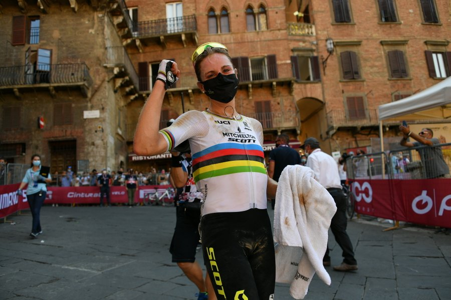 Annemiek van Vleuten after winning 2020 Strade Bianche Women