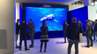 Samsung's The Wall microLED display at ISE 2020