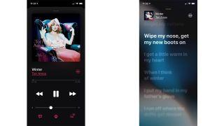 Apple Music lyrics view