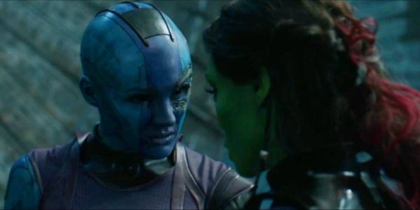 Nebula and Gamora together in Guardians of the Galaxy