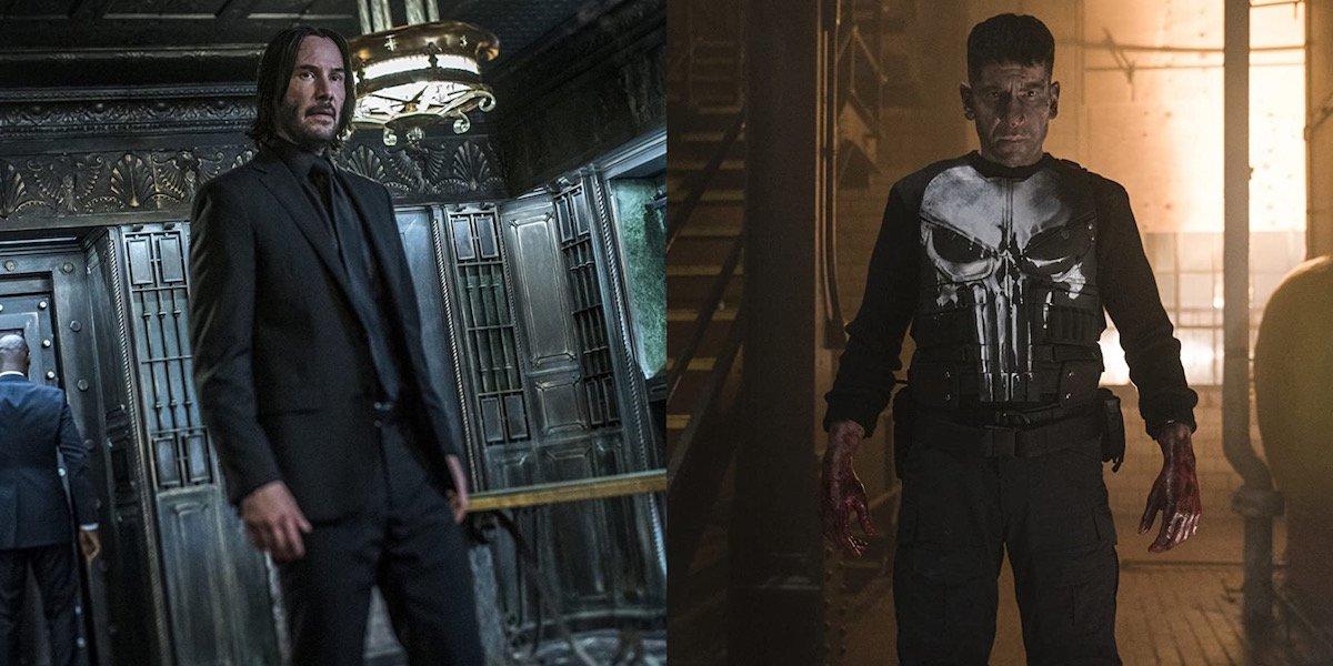 Keanu Reeves' John Wick and Jon Bernthal's Punisher