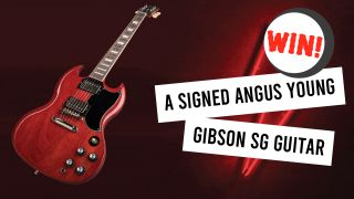 A gibson Angus Young guitar