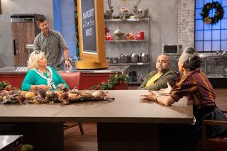 Holiday Baking Championship Judges Around a Table