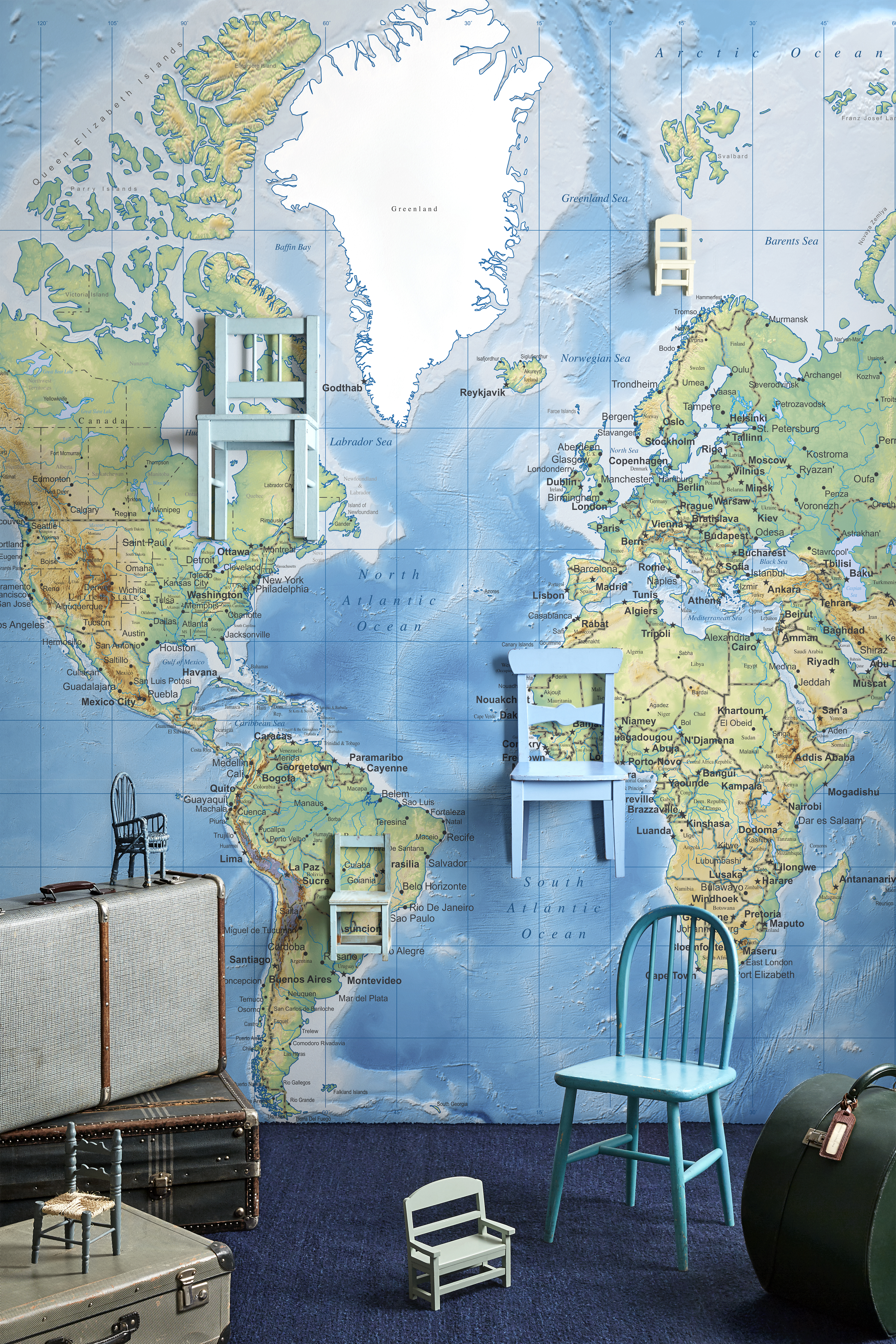 Trending the best world map murals and map wallpapers this is the world map detailed e22619 26 per m2 from photowall gumiabroncs Choice Image