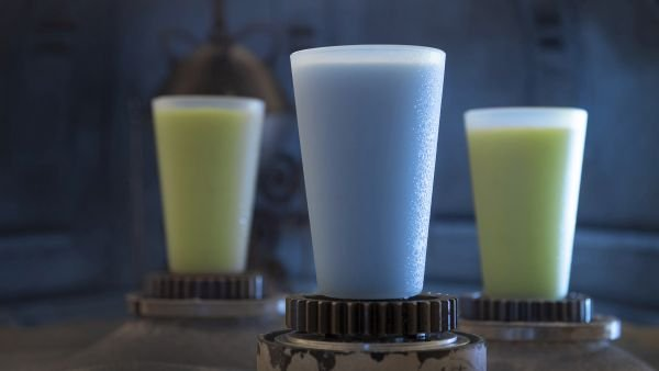 Blue and Green Milk