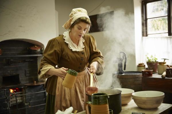 Kirstie Alley as a Georgian servant in Timecrashers