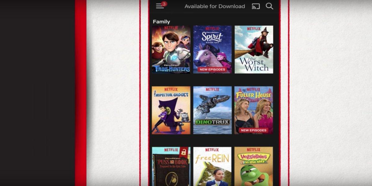 Downloading titles on Netflix