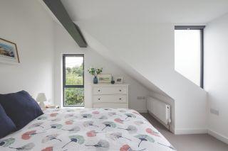 bedroom in a loft conversion