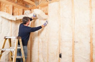 Construction Worker Insulating Wall