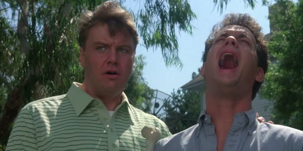 Rick Ducommun and Tom Hanks in The Burbs