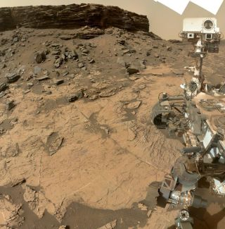 Curiosity at Murray Buttes